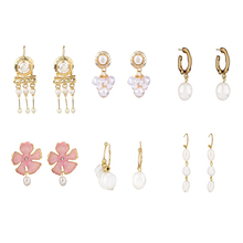 Vintage Geometric Irregular Drop Imitation Pearl Dangle Earrings серьги For Women Wedding Party Jewelry Gift