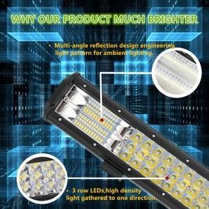 Image 3 - 3 рядсветодиодный светодиодсветильник световая панель для внедорожника, лампа рабосветодиодный освещения для грузовиков, квадроциклов, УАЗ, полноприводных внедорожников, мотоциклов, 9 дюймов, 20 дюймов, 32 дюйма
