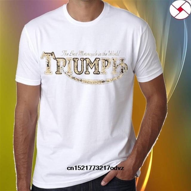 Manga De Corta Camiseta Alta Hombres Calidad Triumph Clásico twxBCHq