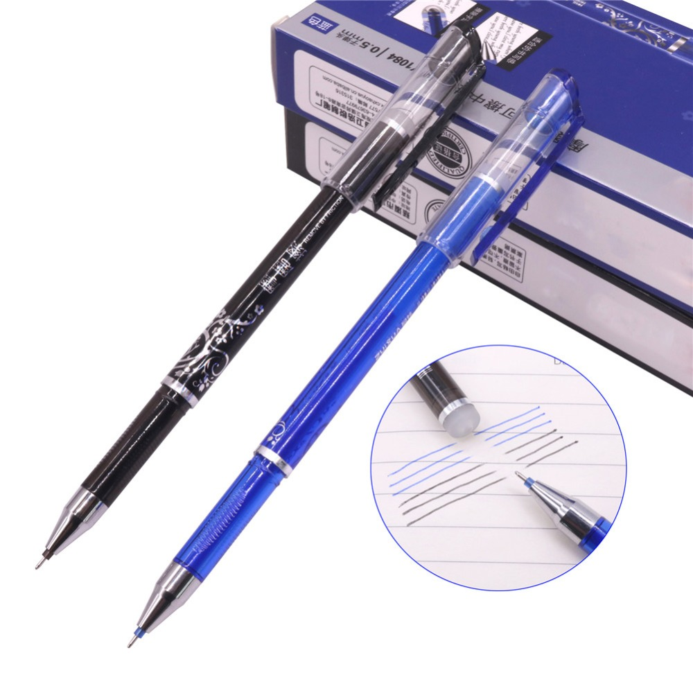 12 Pcs Top Quality Erasable Ink Gel Pen Parents Give The Child A Gift Pens Student School Office-Tracking Information Available