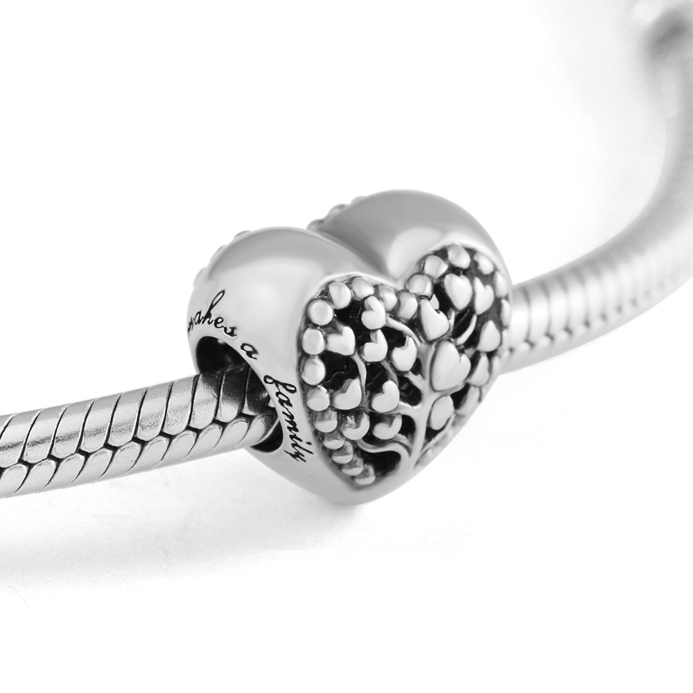 Fits for Pandora Charms Bracelets Flourishing Hearts Beads 100% 925 Sterling Silver Jewelry Free Shipping