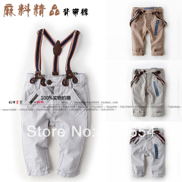 Nuevo 2014 del otoño del resorte pantalones de los niños ropa de bebé niño Masculino bib pantalones casual niños bebés pantalones ropa de los cabritos del bebé en general