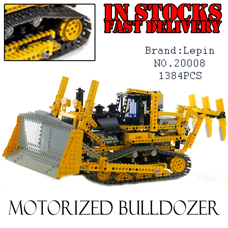 LEPIN 20008 technic series 1384pcs the bulldozer Model Building blocks Bricks Compatible 8275 toys for children gifts brinquedos city airport vip private plane blocks bricks building technic christmas toys for children compatible with legoeinglys lepin 8911