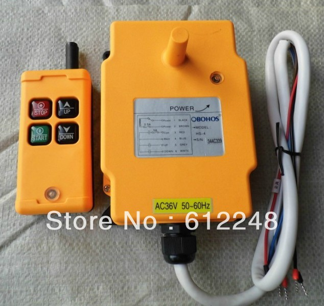 HS-4 Industrial Remote Control.Crane Transmitter (A transmitter and receiver ) SwitchHS-4 Industrial Remote Control.Crane Transmitter (A transmitter and receiver ) Switch