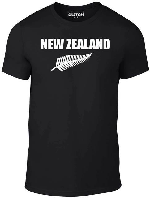 Zealand Fern Rugby T-Shirt Kiwi Blacks - Size 4XL - 5XL T Shirt All Union  New T Shirts Funny Tops Tee New Unisex Funny Tops