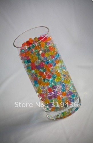 Free Shipping Novelty Flower Vase Multi Color Beads For Decoration