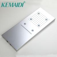 KEMAIDI Water Powered Rainfall LED Shower Head Bathroom Rainfall Showerhead Without Shower Arm Chuveiro Led