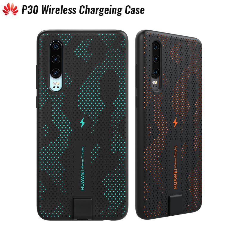 Original Huawei P30 Wireless Charging Case 10W Qi Certification Built in Permeable Magnetic Material Hollow Design