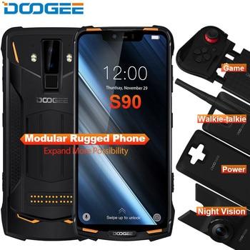 Перейти на Алиэкспресс и купить Модульный усиленный телефон DOOGEE S90, 6,18-дюймовый дисплей, 5050 мАч, Helio P60 восемь ядер, 6 ГБ+128 ГБ, Android 8.1, камера 16 Мп, IP68/IP69K