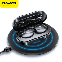 AWEI T6C TWS V5.0 Bluetooth Earphone Wireless Earbuds Wireless Charging Headphone For iPhone Xiaomi Handsfree Headset With Mic