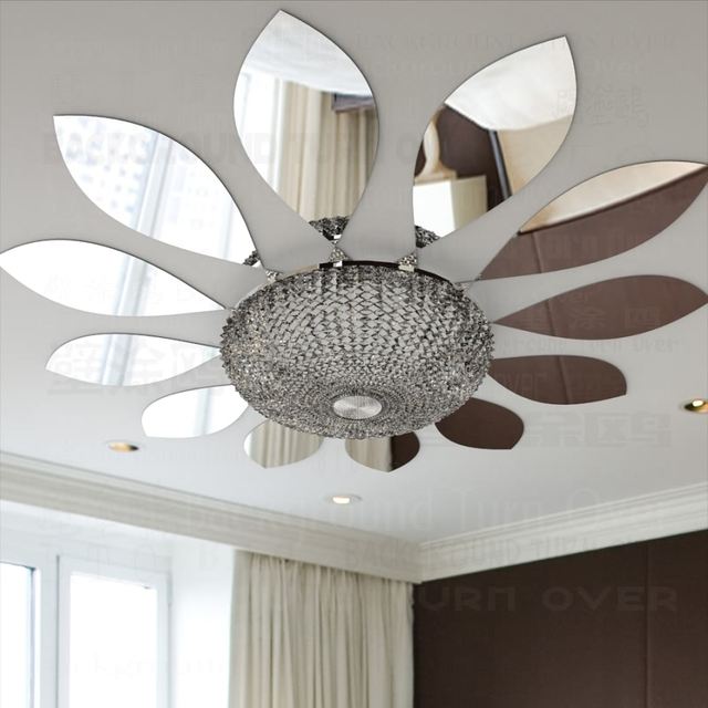 Creative Flower Petals Style Decorative Acrylic Mirror Wall Stickers Room  Decoration Living Room Bedroom Ceiling Door