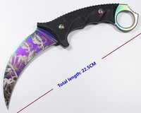 Hight quality karambit fixed knife cold Blade G10 handle outdoor camping hunting Tactical survival pocket knives EDC hand tools
