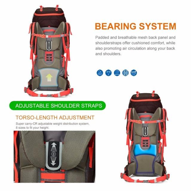 65+10L Outdoor Travel Bag