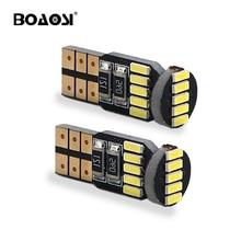цена на BOAOSI 2x t10 LED Bulb w5w led Lamp Car Lights Interior Super Bright 15led 4014 SMD 194 168 12V 6000K White Turn Signal