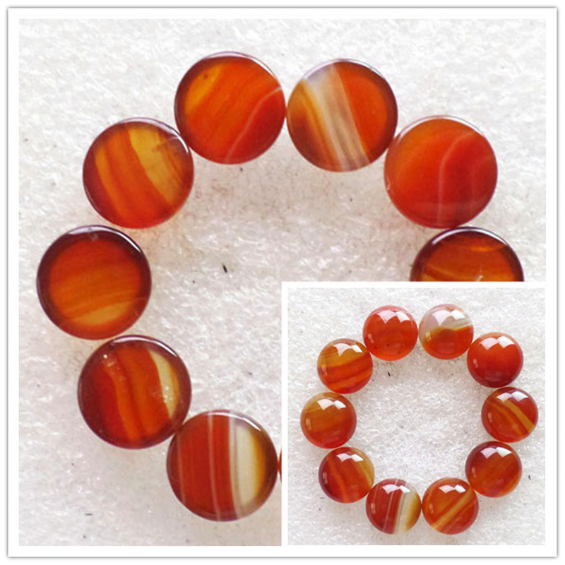 (10 pieces/lot) Wholesale Natural Red Agates Round CAB Cabochon 12x5mm Free Shipping Fashion Jewelry RO2016