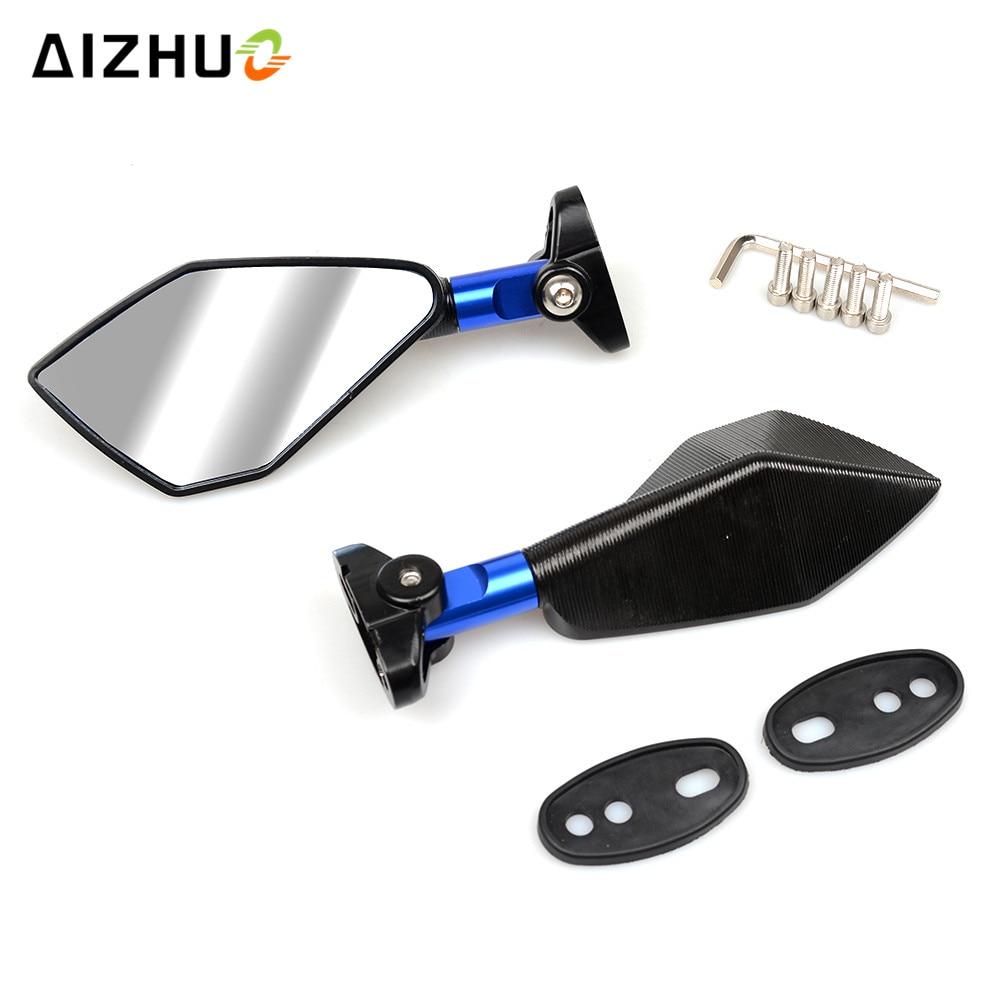 Universal Motorcycle Accessories Mirrors Rearview Mirrors For Suzuki GSX1250 F GSX1400 GSX650F SV650 SV1000 GSXR 600