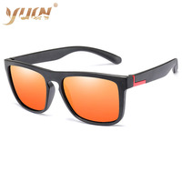 New high quality plastic framed polarized driving men sunglasses Classic design All fit mirror Sun glass UV400