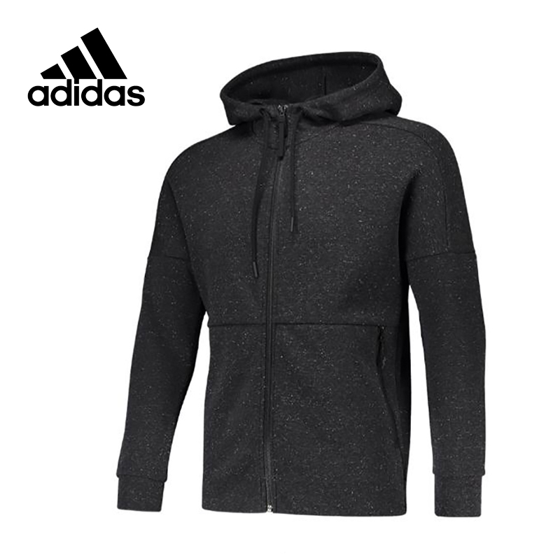 Original New Arrival Official Adidas Men's Breathable Knitted Jacket Hooded Leisure Sportswear adidas original new arrival official women s tight elastic waist full length pants sportswear bj8360