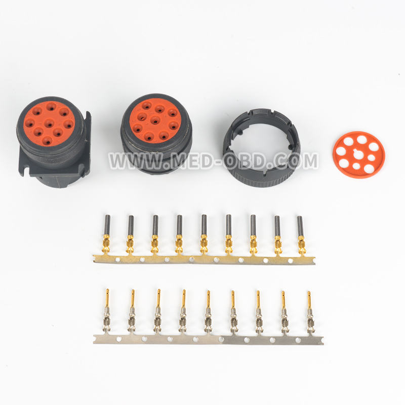 1 Set Deutsch Connector J1939 Conector J1939 9 pin Female And Male Plug 9 pin Conectors for Car OBDII Auto Diagnostic Tool 1 set 18 pin 344106 1 female and male plastics copper 18 way tyco te amp auto waterproof connector
