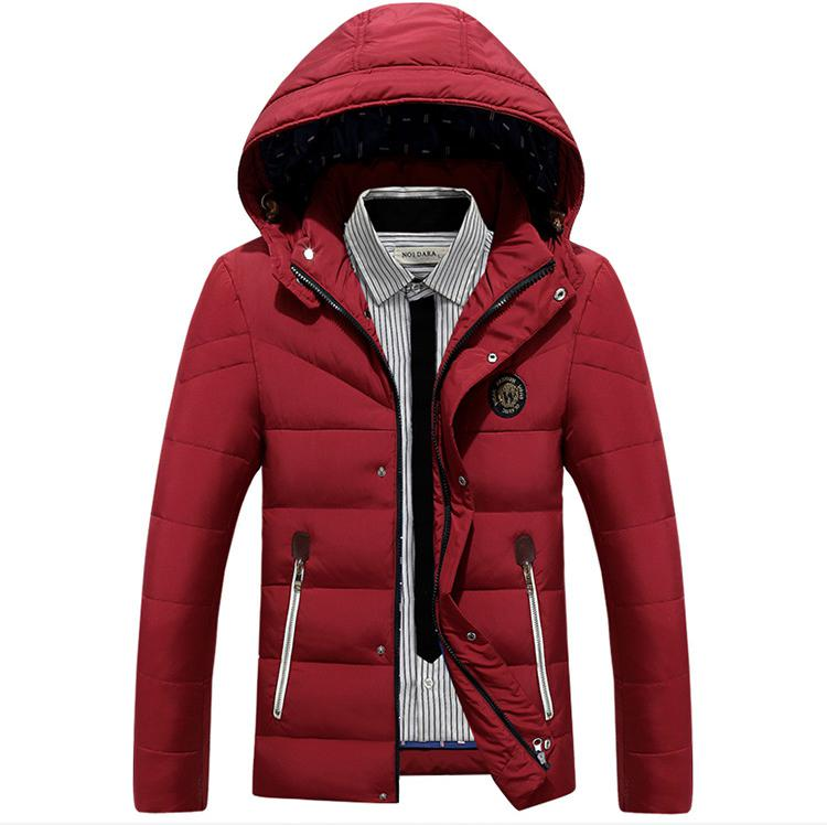 winter Jacket Men Thick Warm Hooded Winter Coat Cotton-padded Jackets Fashion Young Mens Slim Fit Outwear Parka Hombre 2016 new long winter jacket men cotton padded jackets mens winter coat men plus size xxxl