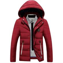 winter Jacket Men Thick Warm Hooded Winter Coat Cotton-padded Jackets Fashion Young Mens Slim Fit Outwear Parka Hombre
