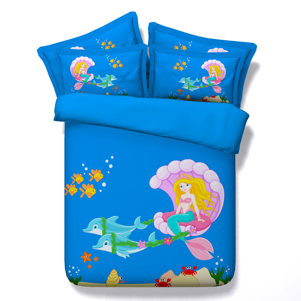 3d bedding Set mermaid bedding twin queen king super king Modal duvet cover  set beautiful eco. Online Get Cheap Mermaid Bedding  Aliexpress com   Alibaba Group