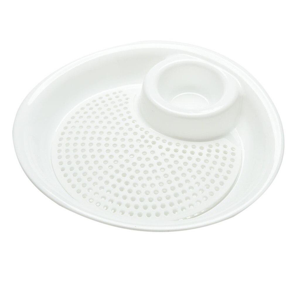 Portable Mini Spices Dish Plastic Fruit Bowl Dumplings Dishes White ...