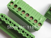 10pcs Push Pull Wire Connectors Pitch 5 08mm 8P Screw Bend Pin Terminal Blocks 90 Degree