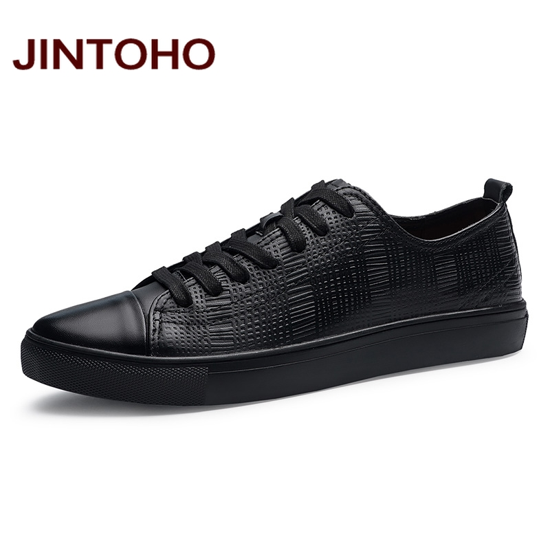 16f01e57a JINTOHO Large Size Male Shoes Luxury Brand Men Shoes Genuine Leather Casual  Men Shoes Real Leather