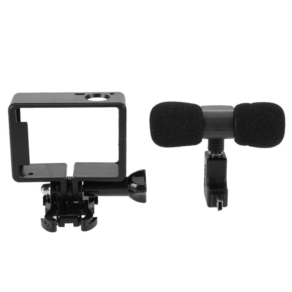 Bruit Annulation Mini Microphone À Condensateur Stéréo 3.5mm Caméra Accessoire Stéréo Microphone de la Caméra pour GoPro Hero 3/3 +/4