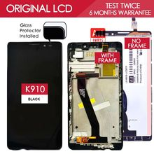 100% Tested Brand Black TFT 1920×1080 For Lenovo Vibe Z K910 LCD Display Touch Screen with Frame Digitizer Assembly