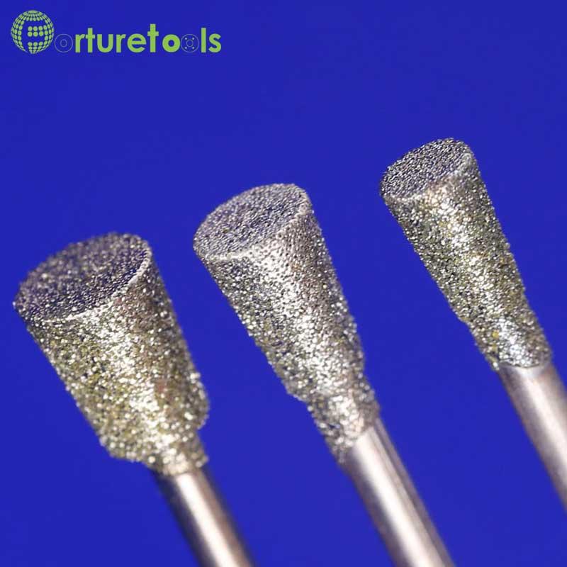 50 pcs diamant monté point dremel outil rotatif monté roues jade - Outils abrasifs - Photo 5