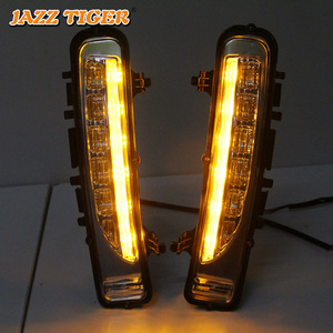 Image 5 - JAZZ TIGER Yellow Turning Signal Function Waterproof ABS 12V Car DRL Lamp LED Daytime Running Light For Ford Edge 2009   2014