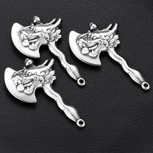 Stainless Steel Dragon Axe Charms for Bracelet Hooks DIY Jewelry Parts Necklace Pendant Findings Jewellery Making Supplies