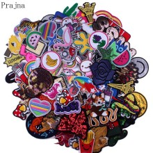 Prajna Embroidered 20 30Pcs Patches Mixed Patch Lot Fashion Skull Cartoon Random Sew On Iron Cheap Parches For Clothing