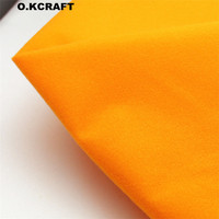 50 150cm Orange Solid Color Fleece Fabric Tilda Plush Cloth For Doll Pillow Sewing Plain Dyed