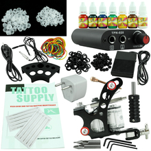 OPHIR 269pcs/set Complete Tattoo Kit 7Colors Tattoo Inks Pigment Induction Tattoo Machine For Beginner Body Tattoo Art _TA001