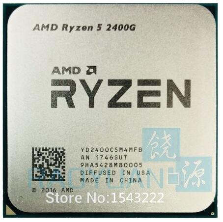 AMD Ryzen 5 PRO 2400G -R5 PRO 2400G 3.6 GHz Quad-Core Eight-Thread 65W CPU Processor YD240BC5M4MFB Socket AM4