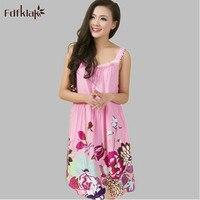 Home Clothes Sleepwear Women Nightgown Sexy Strapless Print Women S Sleep Shirt Plus Size Nightgowns Summer