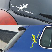 Head Lamp Gecko Car styling 4 wheels drive Stickers quattro Car Sticker and Decals for ford focus 2/vw/kia rio/mazda 3