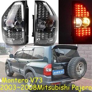 Image 1 - 1 takım Araba Styling için pajero arka lambaları montero V73 LED 2003 ~ 2008 araba aksesuarları pajero Lambası arka işık DRL + fren + Parkı + Sinyal