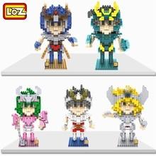 LOZ, bloques de diamantes, Saint Seiya, juguetes de construcción, figura de Micro subasta, Juguete para juguetes para niños educativos, regalos para niños 9480 9484