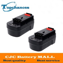 2PCS High Quality 2000mAh 18V NI-CD Replacement Power Tool Battery for Black & Decker HPB18 244760-00 A1718 A18
