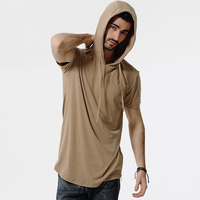 2017 Summer Solid Casual T Shirt Men S Short Sleeve Hooded Camouflage T Shirts Slim Male
