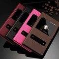Nuevo teléfono móvil para ascend huawei p8 lite p9 lite p9 plus cubierta mate 8 honor 8 v8 flip case ventana de visualización de cuero protectora piel