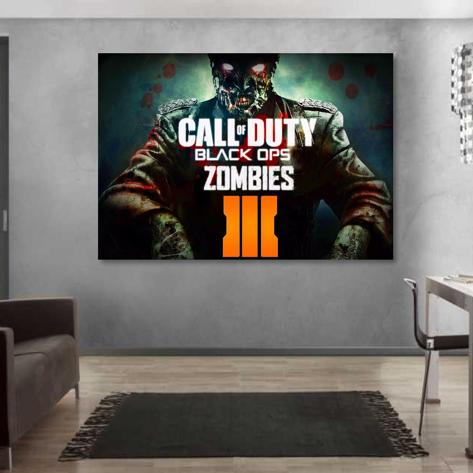 1 Piece Canvas Art Canvas Painting CalL of Duty Zombies HD Printed Wall Art Home Decor Poster Pictures for Living Room