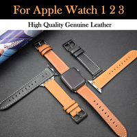 Newest Genuine Leather Watch Band For Apple iWatch Straps Replacement Parts Wrist Band For Apple Watch Series 1 2 3 iWatch