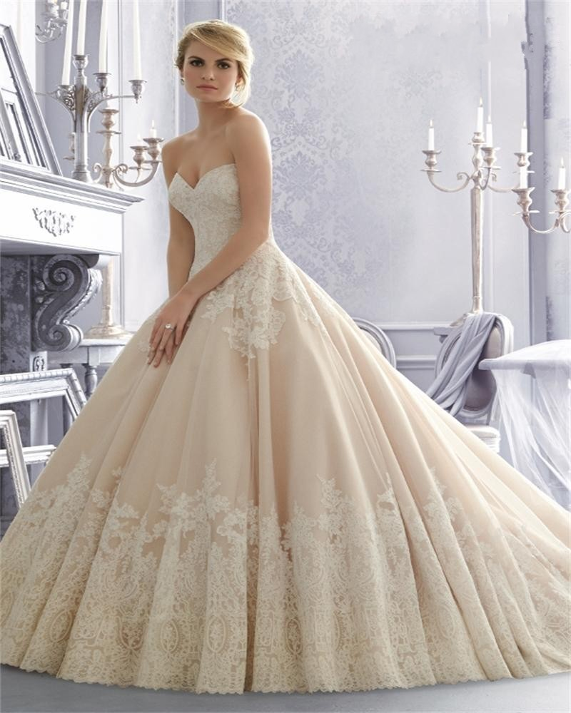 Online Buy Wholesale champagne ball gown wedding dress from China ...