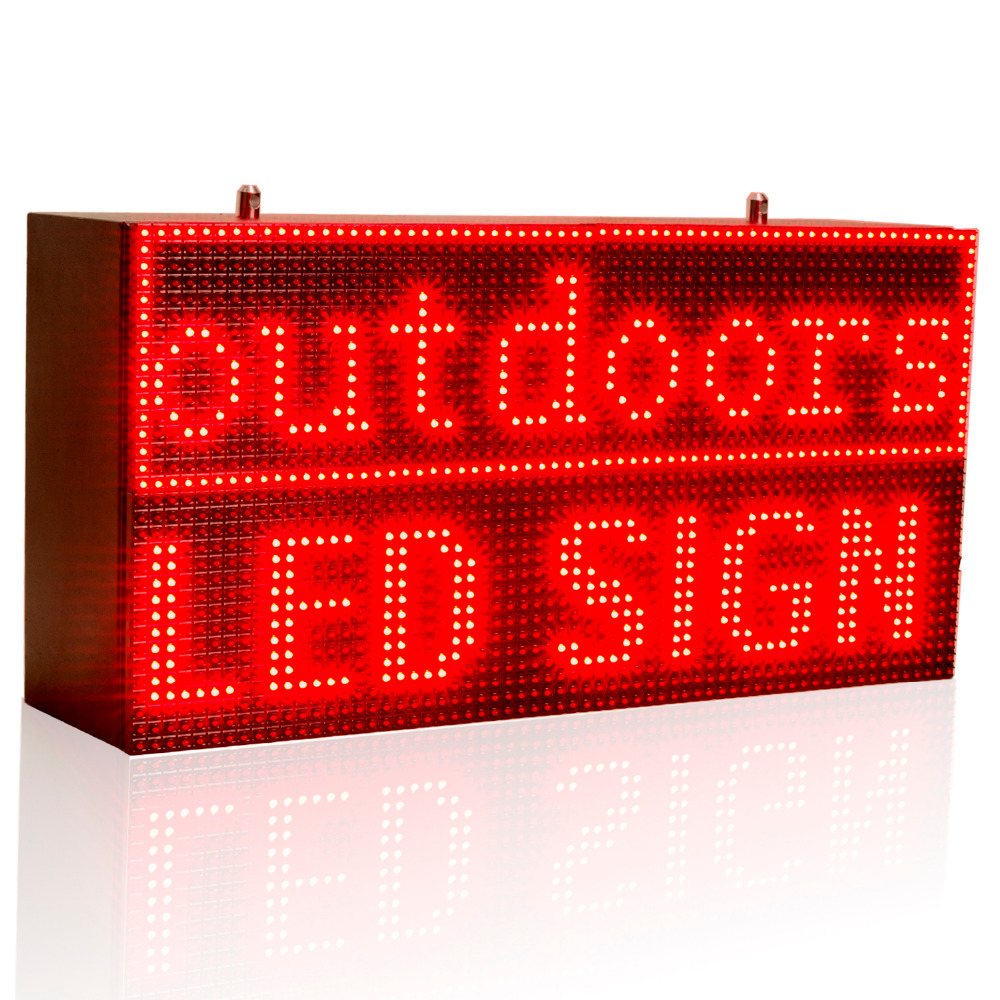 32*64cm Red Strong Programmable Led Sign with Scrolling Message Display For P10 FULLY Outdoor Use led display