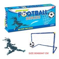 In Stock Mini Portable Folding Children Goal Football Door Set Football Gate With Pump Outdoor Indoor